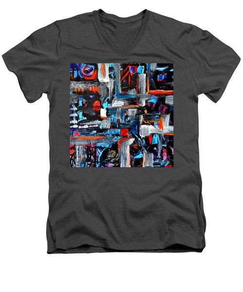 The Reprieve Men's V-Neck T-Shirt by Expressionistart studio Priscilla Batzell