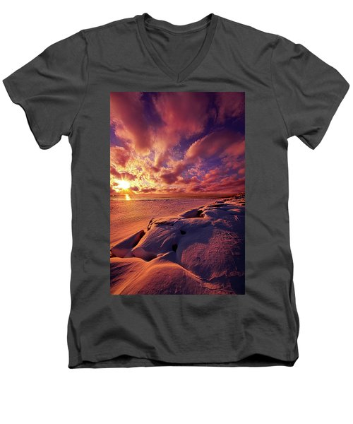 Men's V-Neck T-Shirt featuring the photograph The Return by Phil Koch