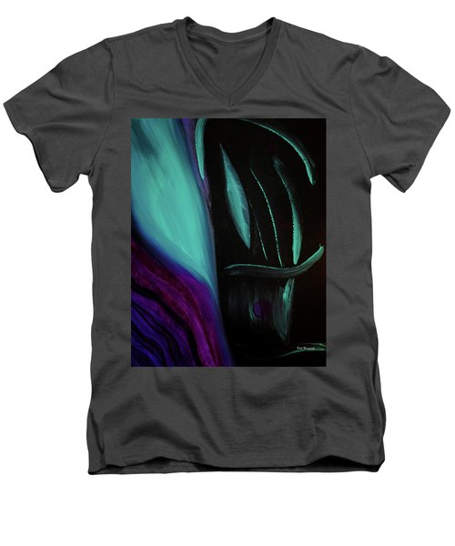 The Reveal Men's V-Neck T-Shirt by Dick Bourgault