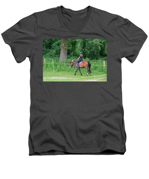 The Riding School In Suburb Men's V-Neck T-Shirt