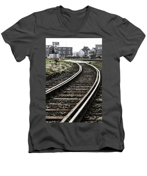 The Right Track? Men's V-Neck T-Shirt