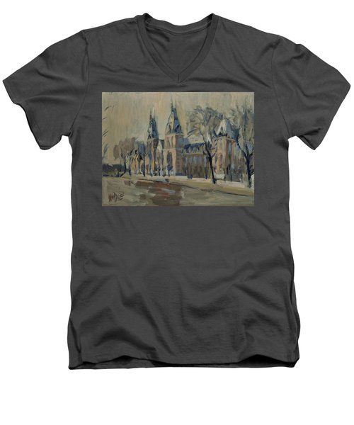 The Rijksmuseum After The Rain Men's V-Neck T-Shirt