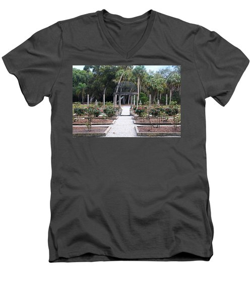 The Ringling Rose Garden Men's V-Neck T-Shirt