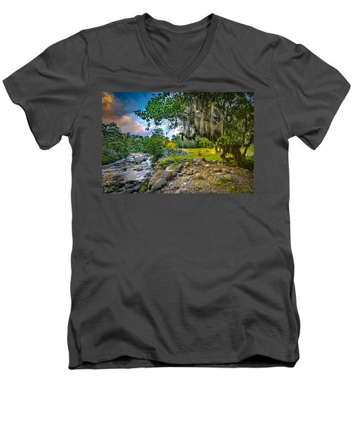 The River At Cocora Men's V-Neck T-Shirt