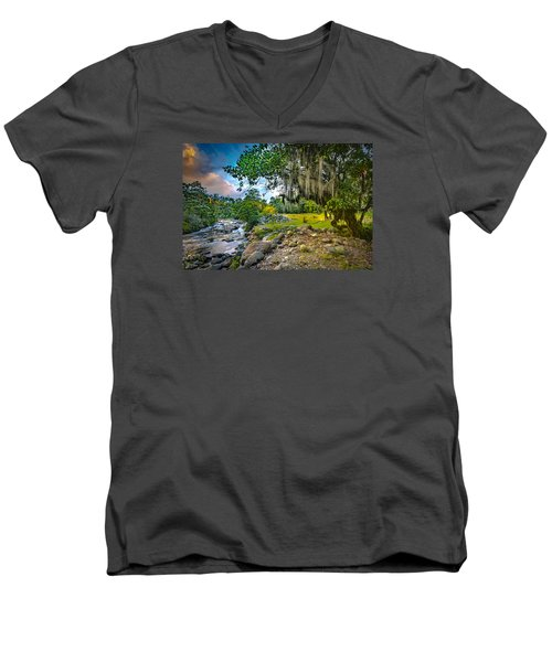 The River At Cocora Men's V-Neck T-Shirt