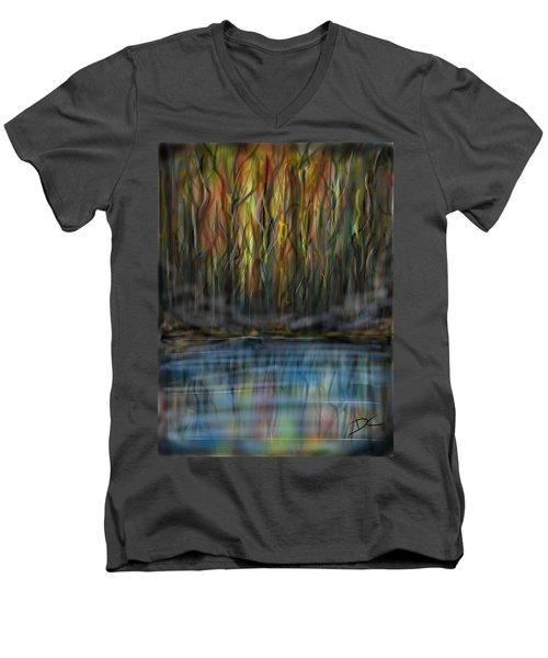 The River Side Men's V-Neck T-Shirt