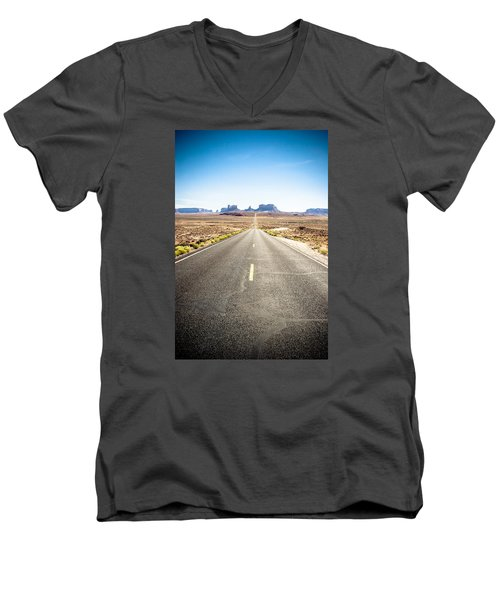 Men's V-Neck T-Shirt featuring the photograph The Road Ahead by Jason Smith