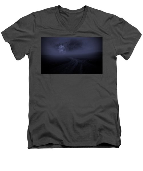 Men's V-Neck T-Shirt featuring the photograph The Road by Robert Geary