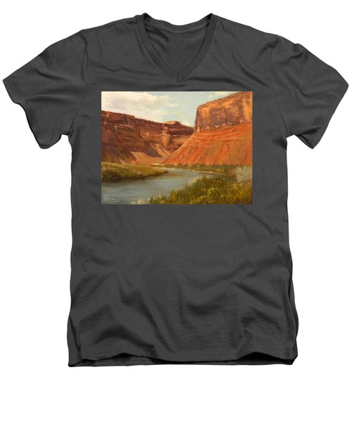 The Road To Moab Men's V-Neck T-Shirt