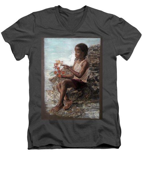 The Rock Garden Men's V-Neck T-Shirt