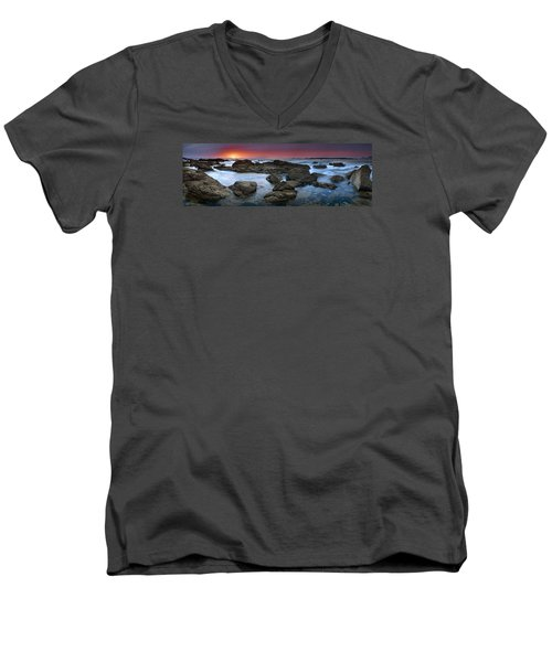 Men's V-Neck T-Shirt featuring the photograph The Rock Labyrinth by John Chivers