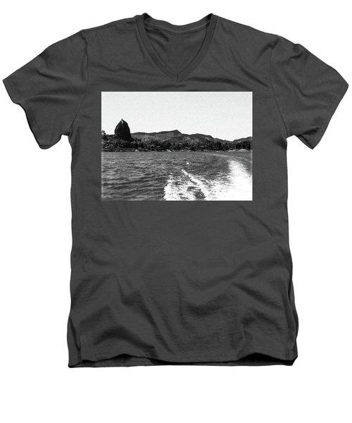 The Rock Of Guatape Men's V-Neck T-Shirt