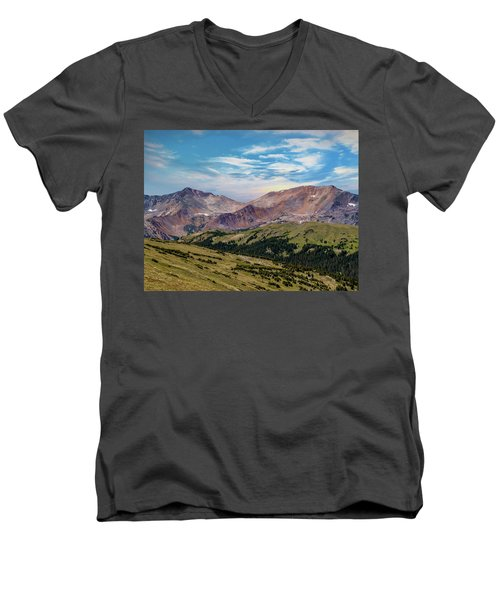Men's V-Neck T-Shirt featuring the photograph The Rockies by Bill Gallagher