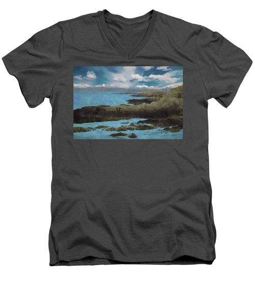 The Rocky Maine Coast. Men's V-Neck T-Shirt
