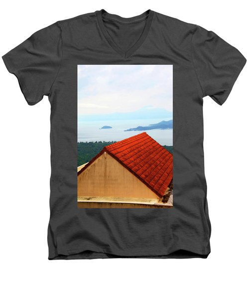 The Roof Be Told Men's V-Neck T-Shirt by Jez C Self