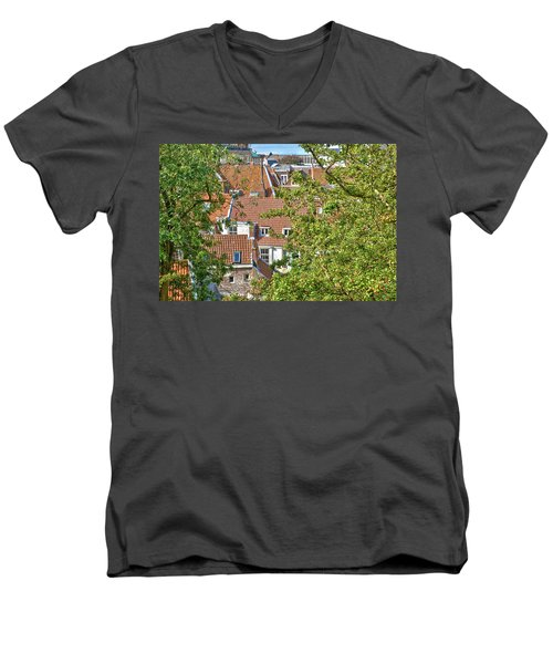 The Rooftops Of Leiden Men's V-Neck T-Shirt