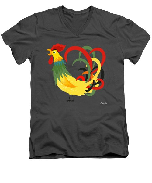 The Rooster Stands Alone Men's V-Neck T-Shirt