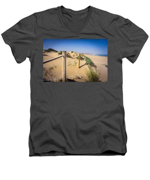 The Rope Fence. Men's V-Neck T-Shirt