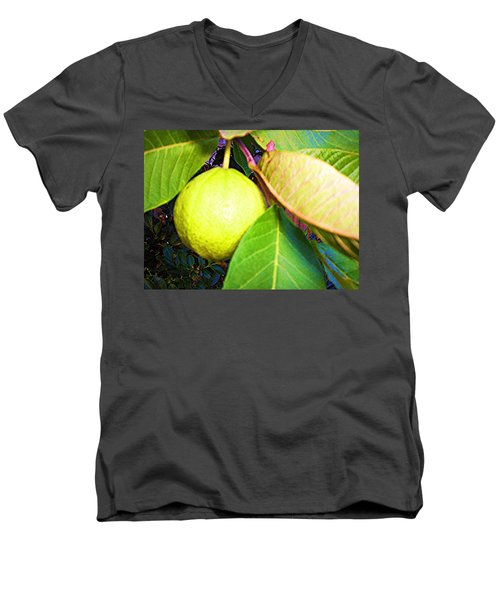Men's V-Neck T-Shirt featuring the digital art The Rose Apple by Winsome Gunning