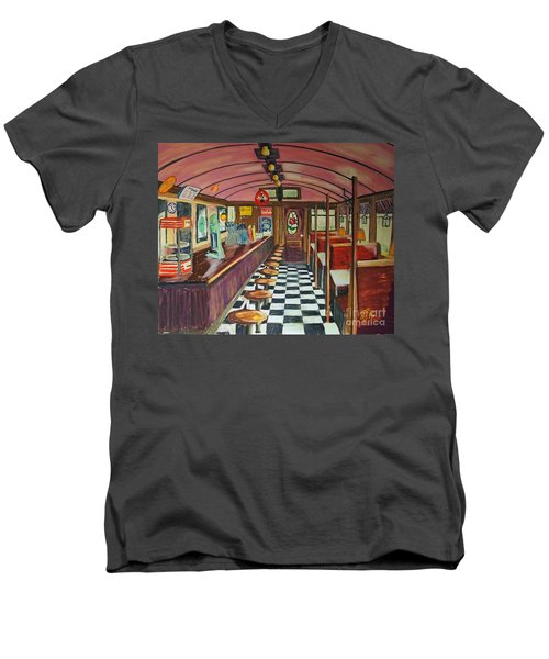 The Rose Diner Men's V-Neck T-Shirt