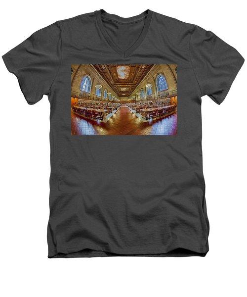 The Rose Main Reading Room Nypl Men's V-Neck T-Shirt
