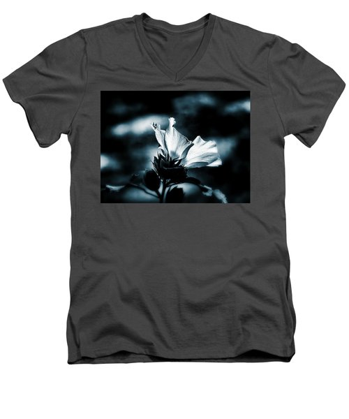 Men's V-Neck T-Shirt featuring the photograph The Rose Of Sharon by Allen Beilschmidt