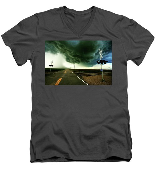 The Rough Road Ahead Men's V-Neck T-Shirt