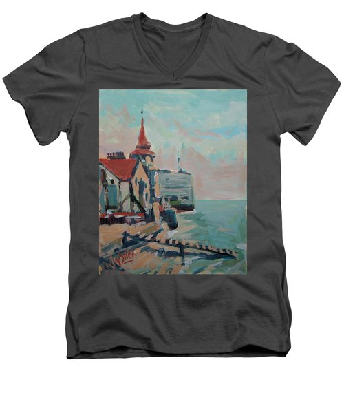 The Round Tower Of Portsmouth Men's V-Neck T-Shirt