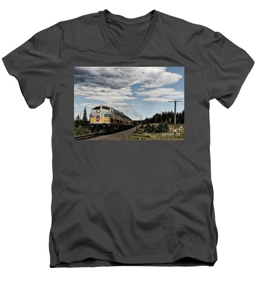 The Royal Canadian Pacific  Men's V-Neck T-Shirt