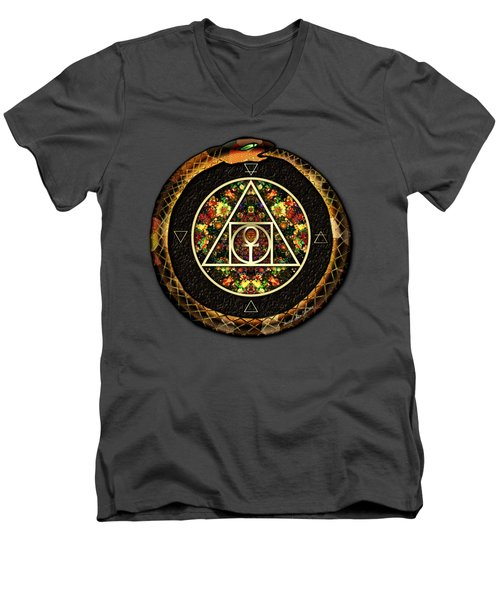 The Sacred Alchemy Of Life Men's V-Neck T-Shirt by Iowan Stone-Flowers