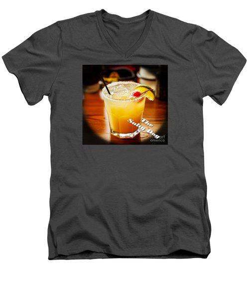 The Salty Dog Men's V-Neck T-Shirt by Paul Mashburn