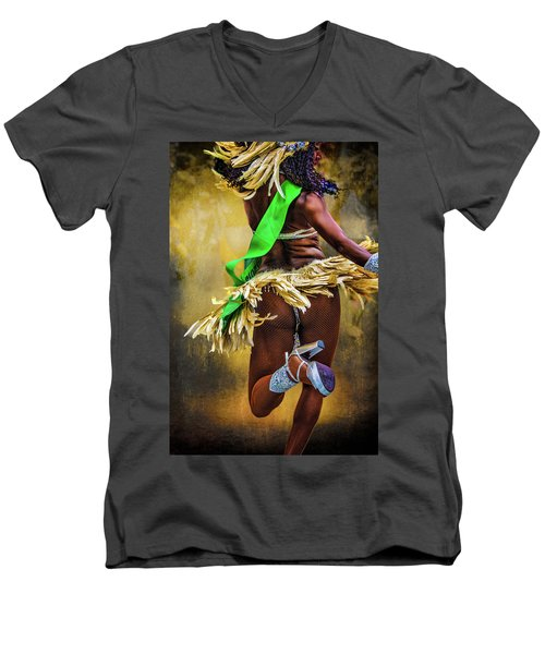 Men's V-Neck T-Shirt featuring the photograph The Samba Dancer by Chris Lord