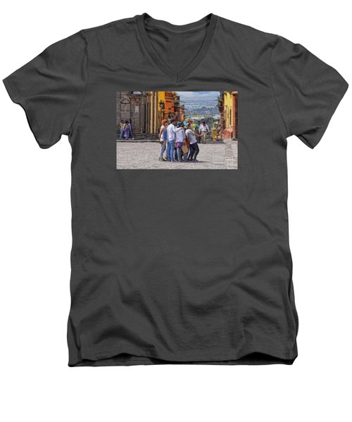 Men's V-Neck T-Shirt featuring the photograph The San Miguel Selfie by John  Kolenberg