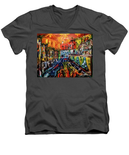 The Sangria Jug Men's V-Neck T-Shirt