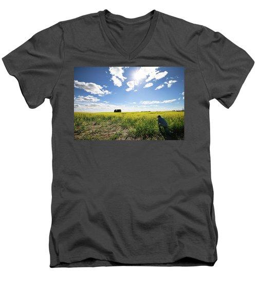 The Saskatchewan Prairies Men's V-Neck T-Shirt