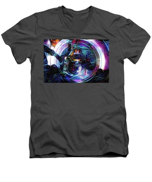 The Sat Diver Men's V-Neck T-Shirt
