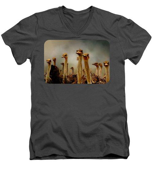 The Savannah Gang Men's V-Neck T-Shirt by Linda Koelbel
