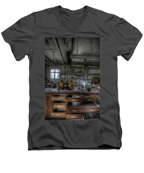 Men's V-Neck T-Shirt featuring the digital art The Science  by Nathan Wright