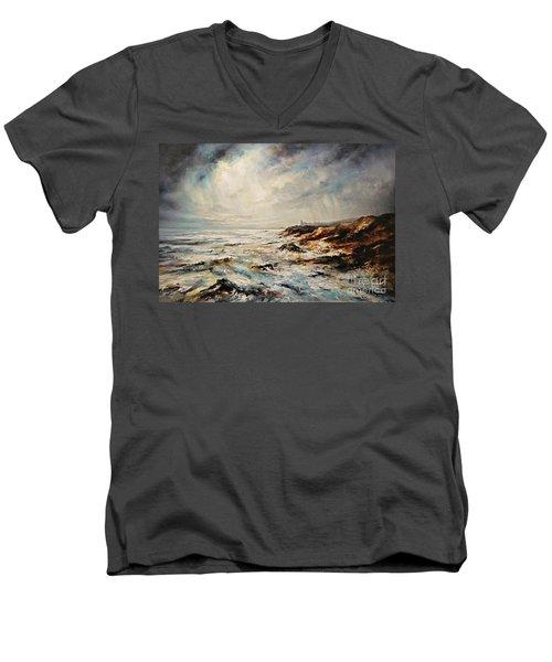 The Sea  Men's V-Neck T-Shirt by AmaS Art
