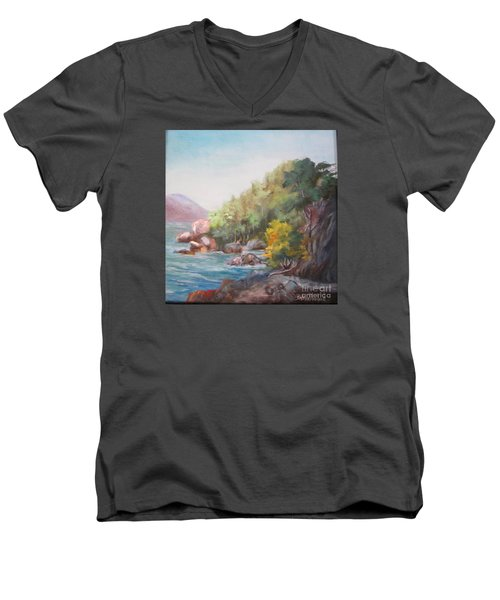 The Sea And Rocks Men's V-Neck T-Shirt
