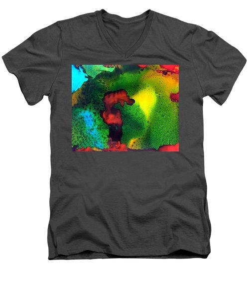 The Sea Horse Standoff Men's V-Neck T-Shirt