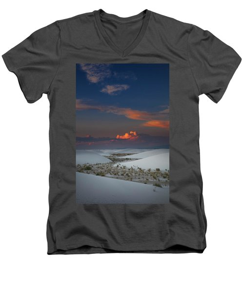Men's V-Neck T-Shirt featuring the photograph The Sea Of Sands by Edgars Erglis
