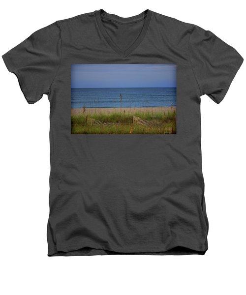 The Sea Shore Line Men's V-Neck T-Shirt