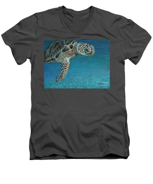 The Giant Sea Turtle Men's V-Neck T-Shirt