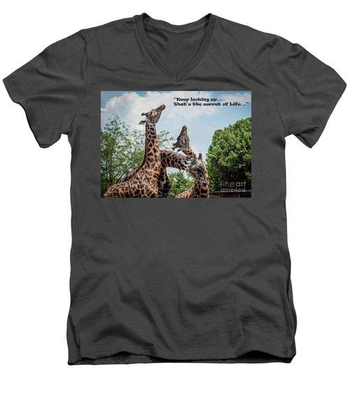 The Secret Of Life Men's V-Neck T-Shirt