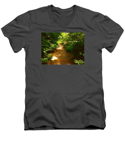 The Secret Path Men's V-Neck T-Shirt by Becky Lupe