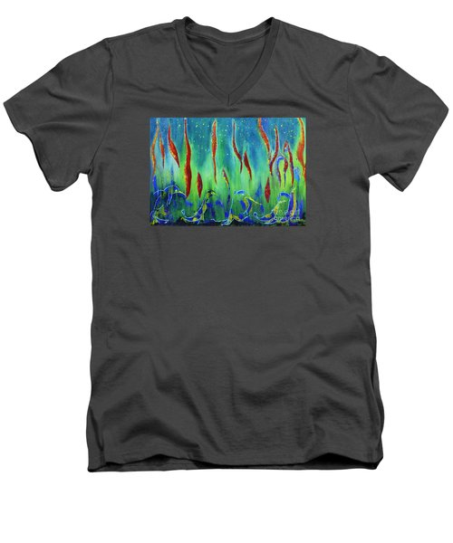The Secret World Of Water And Fire Men's V-Neck T-Shirt by AmaS Art