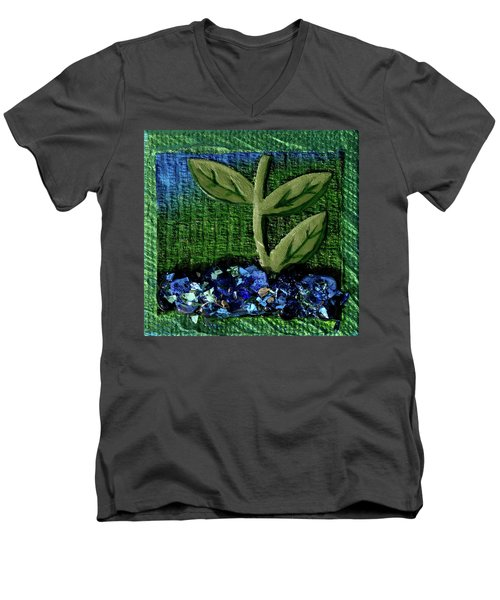 The Seedling Men's V-Neck T-Shirt by Donna Blackhall
