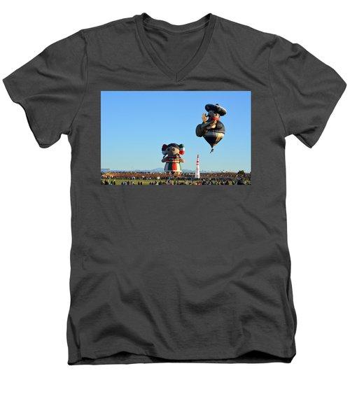 Men's V-Neck T-Shirt featuring the photograph The Serenade by AJ Schibig