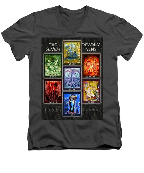 The Seven Deadly Sins Men's V-Neck T-Shirt
